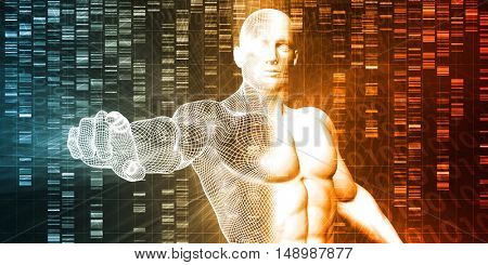 Genome Sequence and Medical Breakthrough as a Science Concept 3D Illustration