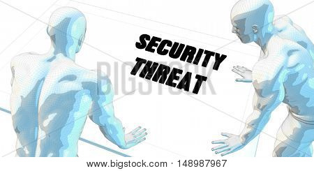 Security Threat Discussion and Business Meeting Concept Art 3D Illustration Render