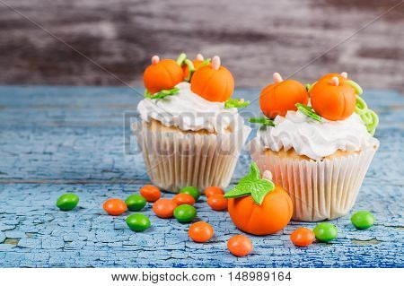 Halloween Cupcake With Colored Decorations