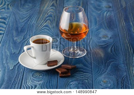 Closing a perfect evening with cognac and espresso