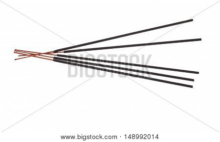 Incense Stick On White Background.