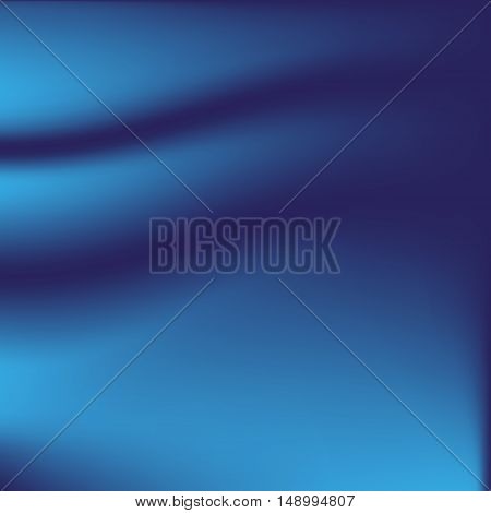 smooth dark blue curtain for background - full editable vector illustration