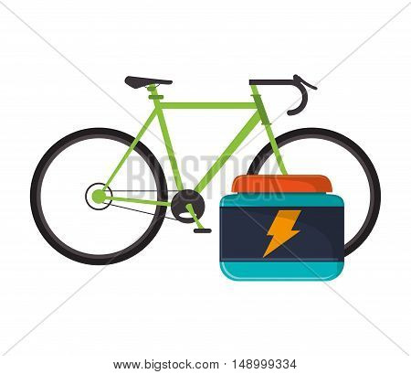 flat design bike and protein supplement  icon vector illustration
