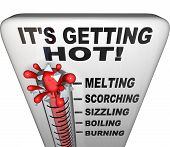 Thermometer - Mercury Rising Bursting - Heat Rising poster