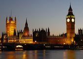 foto of big-ben  - houses of parliament - JPG