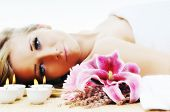 foto of woman body  - young healthy woman in wellness and spa studio have Massage - JPG