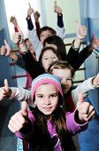 foto of happy kids  - happy children group in school have fun and representing education  and teamwork concept - JPG
