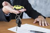 Car Key For Vehicle Sales Agreement. poster
