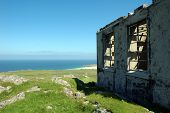 Abandoned Hill-top Hut On Scottish Island Of Tiree, Uk poster