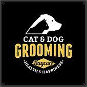 Постер, плакат: Vector Cat And Dog Grooming Logo