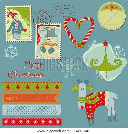 Christmas Design Elements - For Scrapbook, Design, Invitation, Greetings
