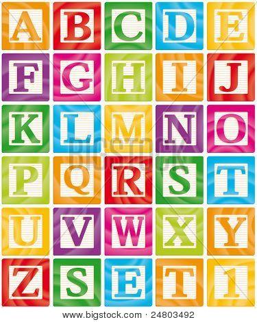 Baby Blocks Set 1 of 3 - Capital Letters Alphabet