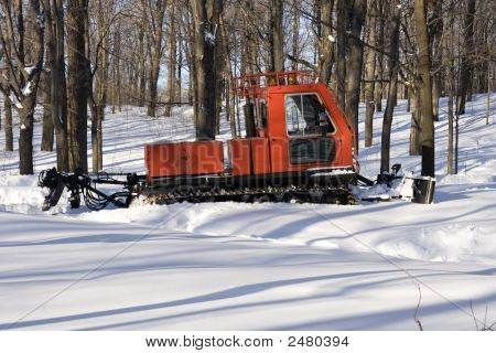 Snowplough Waiting For The Storm