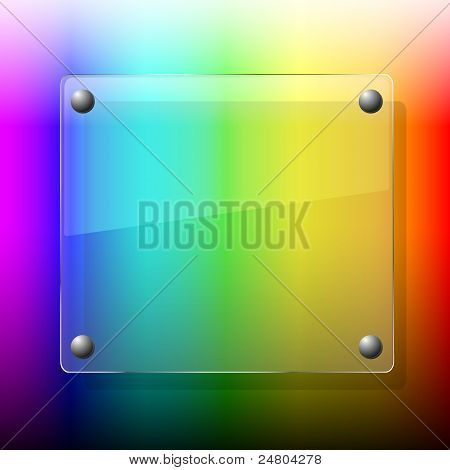 Glass On Palette Background.vector Illustration. Best Choice