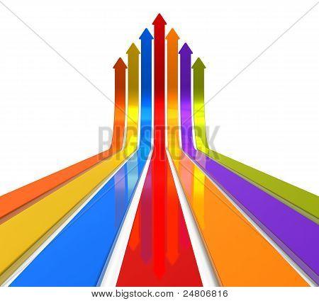 Raising color arrows
