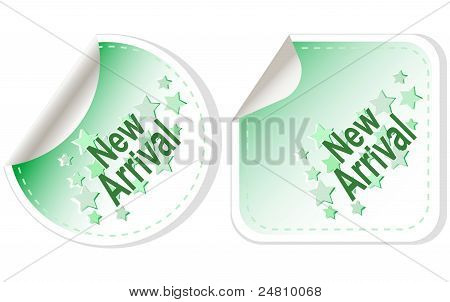 New Arrival vector stickers set label isolated on white background