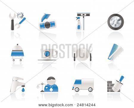 Iconos de negocios y servicios