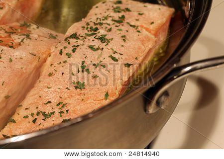 Pan Searing Salmon