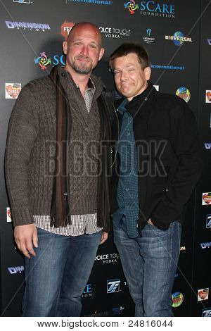 LOS ANGELES - OCT 30:  Todd Farmer; Patrick Lussier arrives at the sCare Foundation Halloween Launch Benefit at Conga Room - LA Live on October 30, 2011 in Los Angeles, CA
