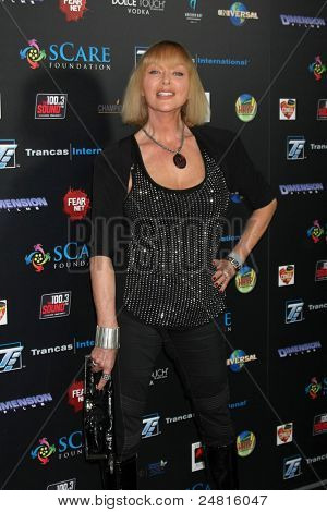 LOS ANGELES - OCT 30:  Sybil Danning arrives at the sCare Foundation Halloween Launch Benefit at Conga Room - LA Live on October 30, 2011 in Los Angeles, CA