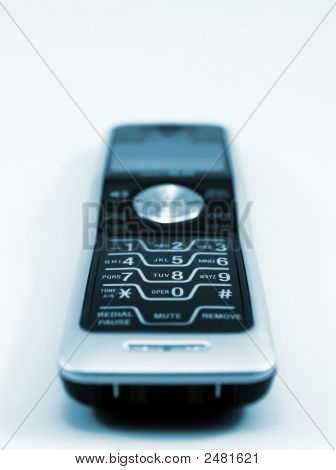 Wireless Phone In Blue Tint