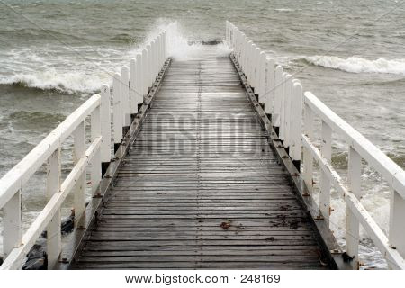 Stormy Jetty