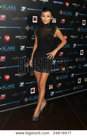 LOS ANGELES - OCT 30:  Bai Ling arrives at the sCare Foundation Halloween Launch Benefit at Conga Room - LA Live on October 30, 2011 in Los Angeles, CAAngeles, CA