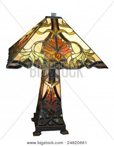 Antique Leadlight Lamp