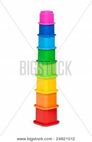 Plastic Multi-colored Children's Pyramid