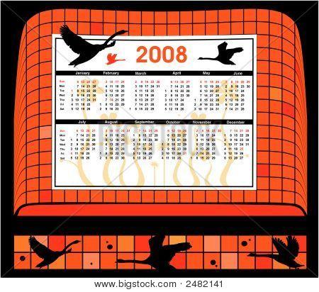 2008 Black Birds Calendar