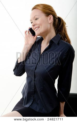 Pretty Attractive Brunette European Caucasian Twenties Business Woman Lifestyle