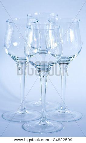 Arrangement Of Elegant Wine Glasses.