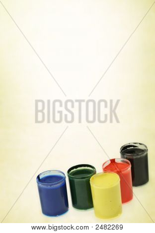 Group Of Paint Cups
