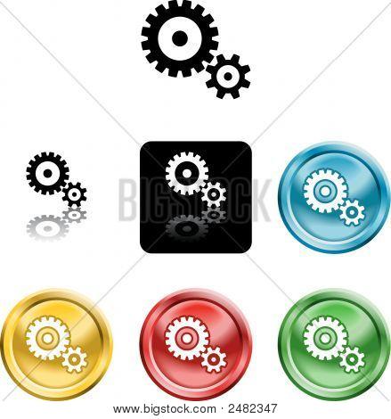 Cog Gears Icon Symbol Icon