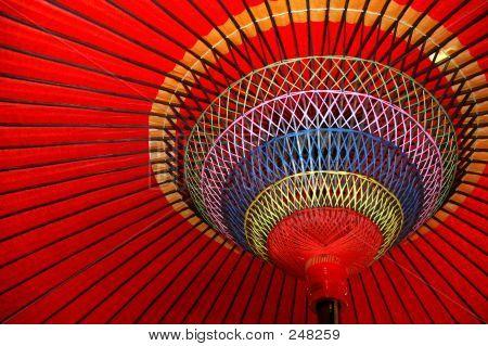 Unter dem japanischen roten Dach