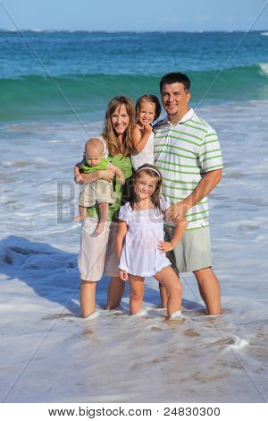 Family at beach together