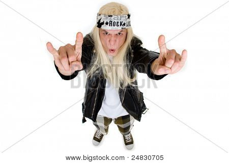Rock fan on a white background