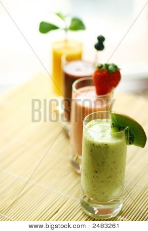 Row Of Smoothies