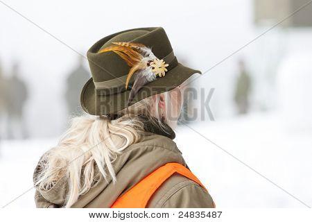 woman hunter hunting
