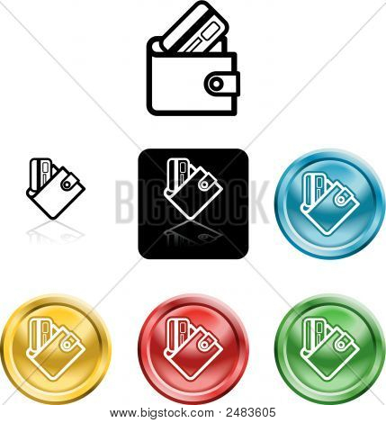 Icon Symbol Of A Stylised Wallet And Credit Card