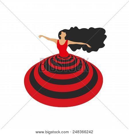 Dance Icon Concept Ballet Studio Logo Design Template Flat Pop Art