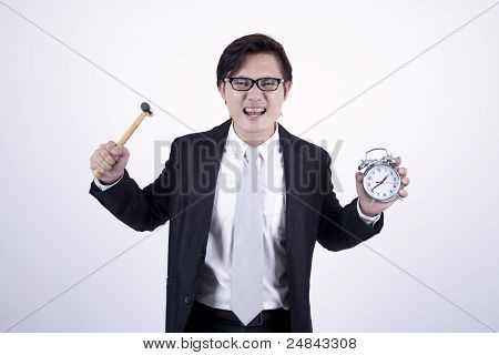 Asian Businessman Angry