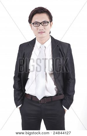 Confident Asian Businessman