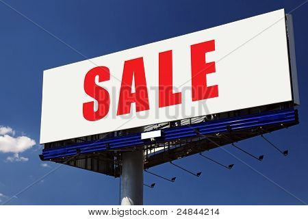 Sale Word On Billboard.