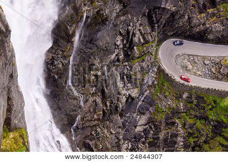Trollstigen Pass Waterfall
