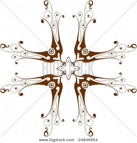 Vintage floral cross. Bitmap copy my vector ID 16019854