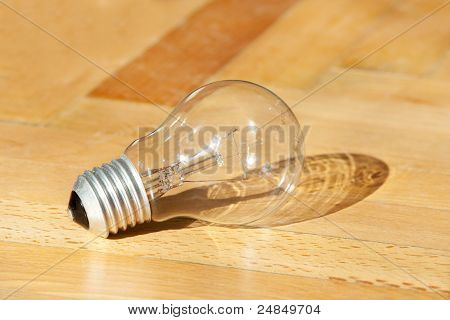 Lamp On Oak Floor