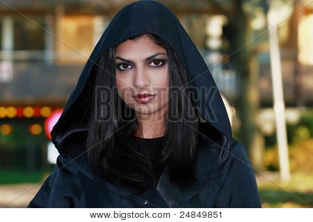 Asian Woman In Cape