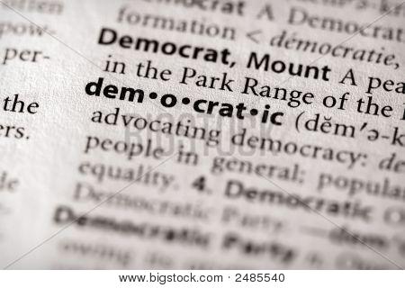 Dictionary Series - Politics: Democratic