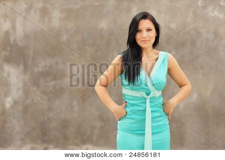 Woman with hands on hips